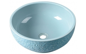 PRIORI ceramic basin diameter 43cm, ceramic, baby blue color