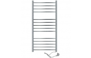Electric towel rail, round 1160x630mm, 130W, stainless steel