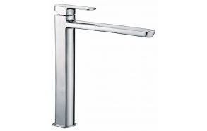MIXONA high basin mixer with pop up waste, extended spout, chrome