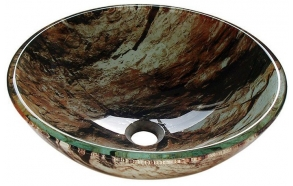 ROCK glass washbasin diameter 42cm