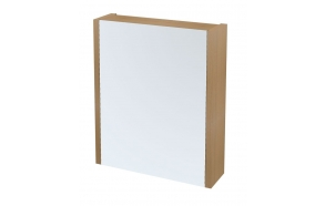LARITA mirror cabinet 60x70x17cm,oak natural