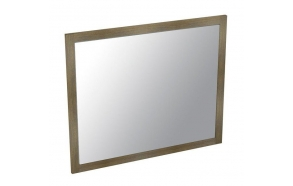 LARITA mirror 71x86x2cm, oak, grey oil