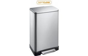 E-BIN step bin 20l, Soft Close, brushed stainless steel