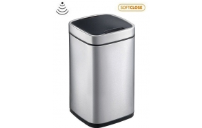 PERFECT Sensor bin 12l, Soft Close, brushed stainless steel