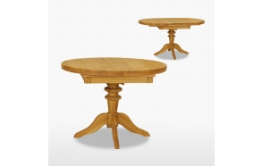 Round extending table 1 leaf