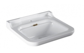 Washbasin Waldorf 60x55 cm,bronzed overflow ring included (414001+811393)