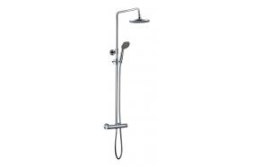 KIMURA Shower column with thermostatic mixer, chrome