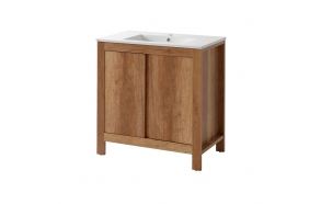 cabinet under washbasin Classic Oak 80 cm (2D), basin not included