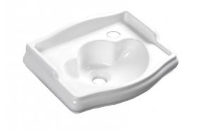 RETRO ceramic washbasin 41x32cm, tap hole on the right, no overflow