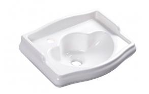 RETRO ceramic washbasin 41x32cm, tap hole on the left, no overflow