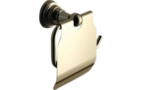 DIAMOND Toilet paper holder with cover, bronze