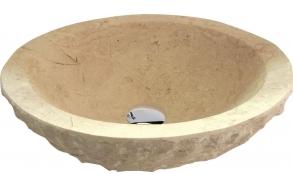 BLOK stone washbasin 45x15cm, rough stone, light