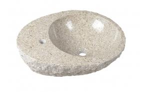 BLOK Stone Washbasin 56x46x15cm, rough stone