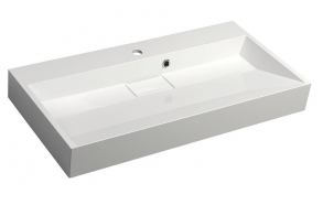 ORINOKO Cultured Marble Washbasin 90x9x46cm, white