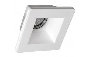 GIP gypsum ceiling light, 120x120 mm, GU10, max 35W
