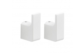 PIRENEI Robe Hook, pair, white matt