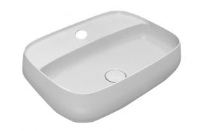 AVENTIN Ceramic Washbasin 60x45 cm, incl. Ceramic Washbasin Waste