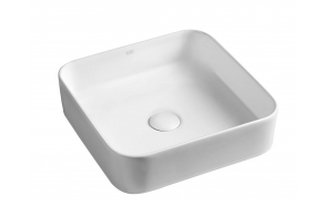 BLADE Counter Top Ceramic Washbasin 40x11,5x40 cm (without overflow hole)