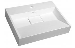 AMUR Cultured Marble Washbasin 60x15x45cm, white