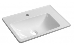 ARANA Cultured Marble Washbasin 56x11x35cm, white, right