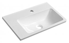 ARANA Cultured Marble Washbasin 56x11x35cm, white, left