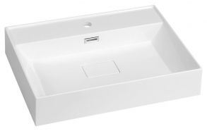 GODIVA Cultured Marble Washbasin 58x44cm, white