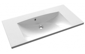 MARIA Cultured Marble Washbasin 90x46cm, without tap hole, white