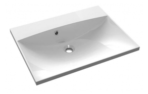 MARIA Cultured Marble Washbasin 60x46cm without tap hole, white
