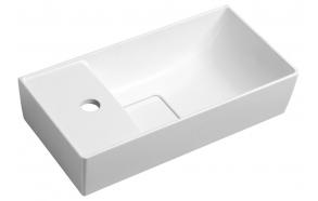 MAXX Cultured Marble Washbasin 47,5x11x24cm, left/white