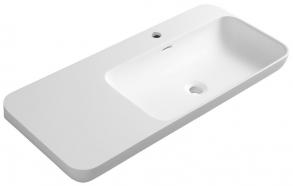 NIAGARA washbasin 900x140x400mm, matt white