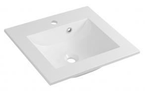 YUKON Cultured Marble Washbasin 50x45cm, white