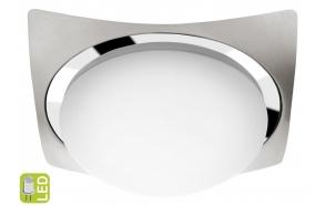 METUJE Ceiling LED Light 12W, 230V, 26x26cm, chrome/brushed stainless steel