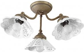 NAPOLI Ceramic Shade Ceiling Light E14 3x40W, 230V, bronze