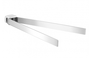 PIRENEI Dual Swivelling Towel Rail Holder, chrome