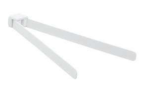 Pööratav käterätihoidja 350 mm Pyrene, matt valge