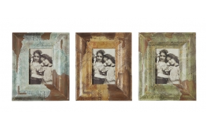 "4x6"" Wood Photo Frame8-1/2""L x 10-1/2""H, 3 Styles"