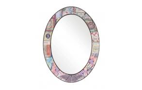 "18""L x 23-1/2""H Oval Wood Framed Mirror"