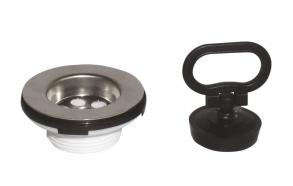 basin waste, plug with handle