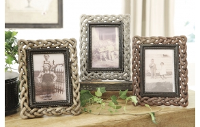 "4x6"" Resin Photo Frame,7""L x 9""H, 3 Styles"