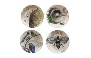 "8-3/4"" Round Stoneware Plate, 4 Styles"