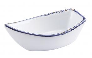 "4-1/2""L Stoneware Enamel LookBoat Dish"