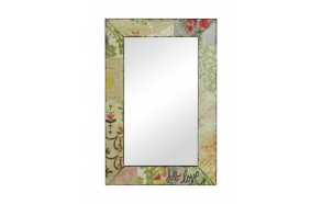 "14-1/4""L x 26""H Tin Framed Mirror ©"