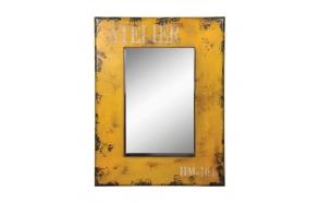 Kollane raamitud peegel