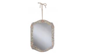 Pabertrükipildiga kaunistatud peegel