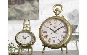 Kullavärvi vasest valmistatud kolmjalaga kell