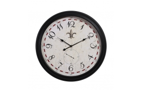 "31-1/2"" Round MDF & Metal Wall Clock"