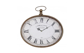 "16-1/4""L x 16""H Metal Pocket Watch Wall Clock"