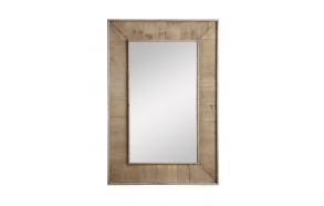 "24""L x 36""H Oak Wood Framed Mirror, Mirror Size 14-1/2""L x 26-1/2""H,"