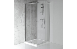 AGGA Shower Enclosure 800x800x1850 mm, clear glass