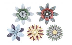 Ümmargune rauast lillekujuline magnet, viies stiilis